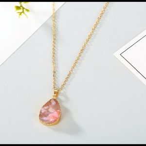 Jewelry - 3/$20 Pink Water Drop Pendant Necklace